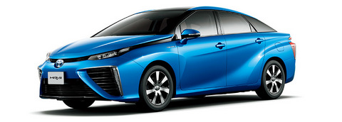 Toyota Mirai fuel cell electric vehicles